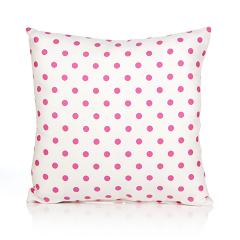 Glenna Jean Cartwheels Pink Dot Pillow