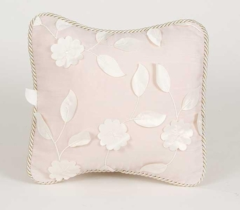 Glenna Jean Olivia Pillow - Dimensional Flower over Moire'