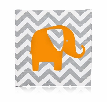 Glenna Jean Rhythm Wall Art Chevron w Elephant