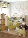 Glenna Jean Spa 4 Piece Crib Bedding Set