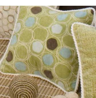 Glenna Jean Spa Green Circles Pillow
