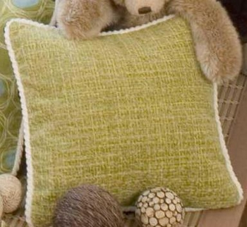Glenna Jean Spa Green Tweed Pillow