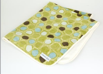 Glenna Jean Spa Throw (Green Circles w/ Softee Back)
