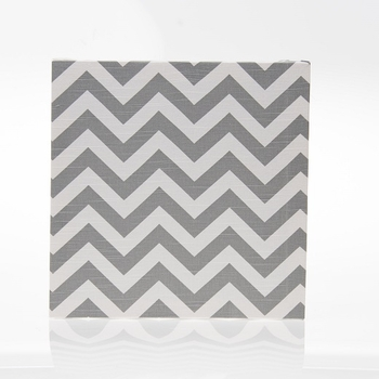 Glenna Jean Swizzle Wall Art Grey Chevron