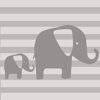 Glenna Jean Swizzle Wall Decal Grey Elephant