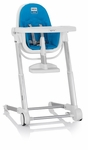 Inglesina Zuma White Highchair Light Blue