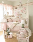 Isabella Crib Baby Bedding by Glenna Jean - 5 pc. W Rosebud Pillow