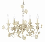 Jubilee Chandelier - 5 Light - Ivory Flower Garden