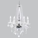 Jubilee Middleton Glass Chandelier - 4 Light