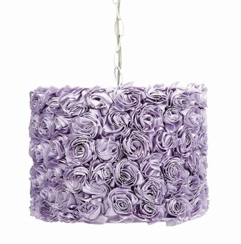 Jubilee Pendant Light with Lavender Rose Garden Shade