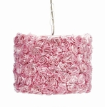 Jubilee Pendant Light with Pink Rose Garden Shade