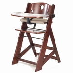Keekaroo Height Right High Chair with Tray Mahogany