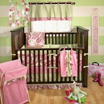My Baby Sam Paisley Splash in Pink Bedding Set