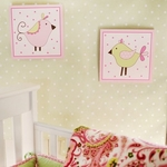 My Baby Sam Paisley Splash in Pink Wall Art Plaques