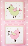 My Baby Sam Pixie Baby in Pink 2 Pc Wall Art