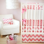 New Arrivals Inc Zig Zag Baby in Hot Pink Bedding Set 3 Pc