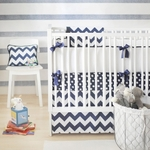 New Arrivals Inc Zig Zag Baby in Navy Bedding Set 3 Pc