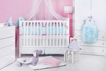 Novela Ela in Light Blue Bedding