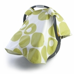 Oilo Car Seat Canopy Spring Green Modern Berries