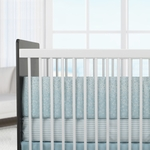 Oilo Crib Bedding Set Raindrops Aqua