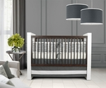 Oilo Crib Bedding Set Sticks Pewter