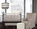 Oilo Crib Bedding Set Taupe Modern Berries