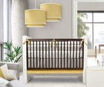 Oilo Crib Bedding Set Triple Band Stone & Citron
