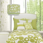 Oilo Spring Green Modern Berries Twin Duvet