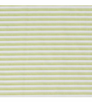 Oilo Spring Green Queen Striped Sheet
