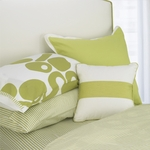 Oilo Spring Green Twin Striped Sheet