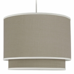 Oilo Taupe Solid Double Cylinder