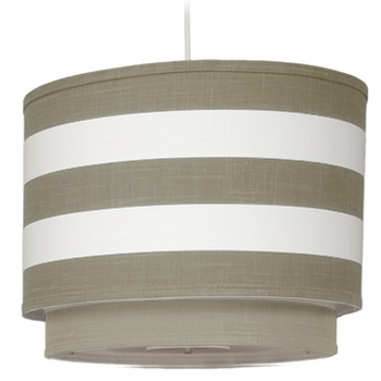 Oilo Taupe Stripe Double Cylinder