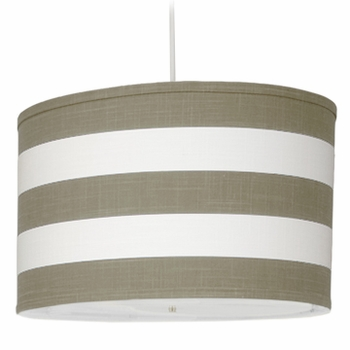 Oilo Taupe Stripe Large Cylinder