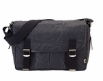 OiOi Crushed Wax Satchel Black/Blue
