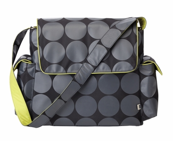 OiOi Messenger Charcoal/Lime Dot