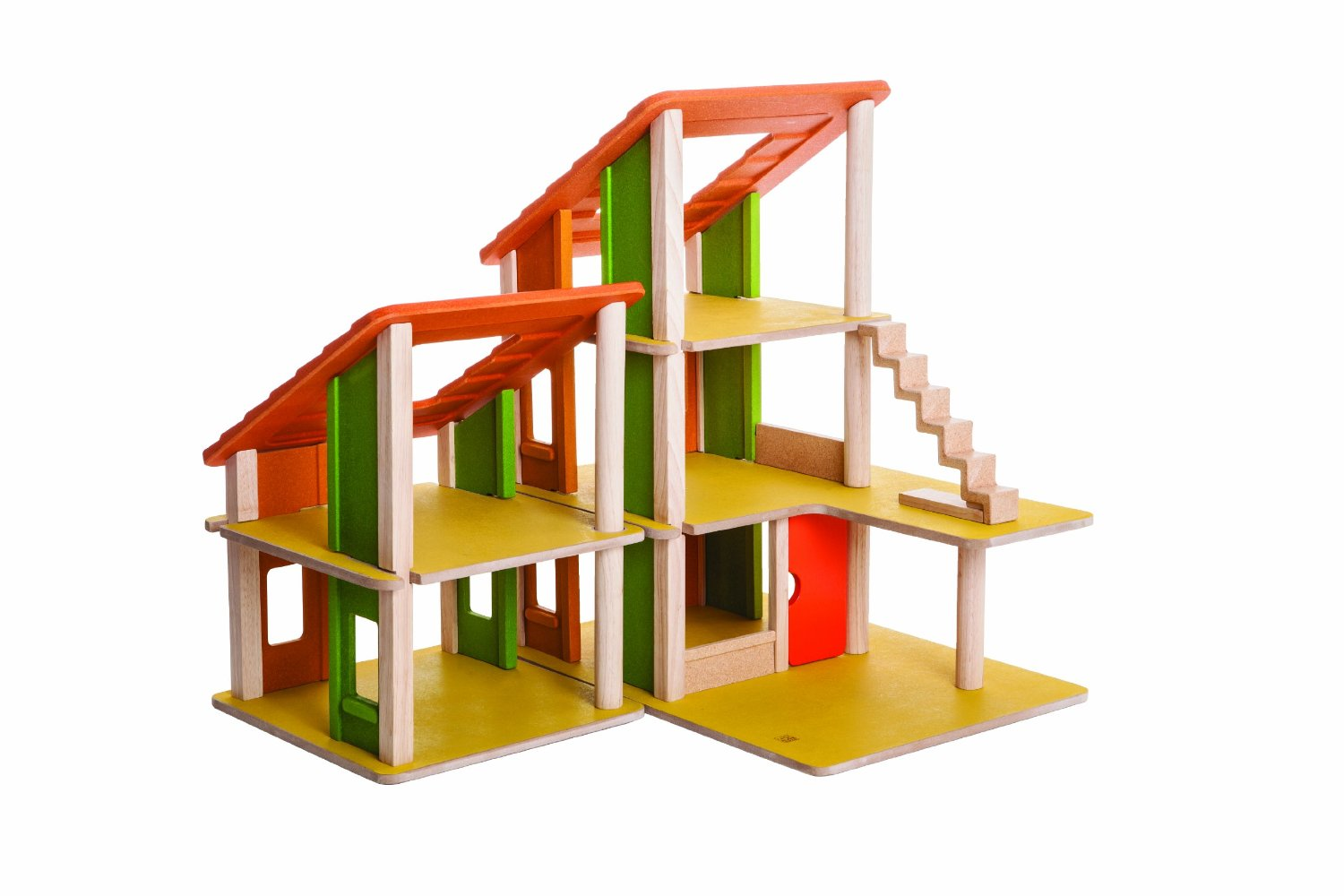 Plan Toys Chalet Dollhouse Without Furniture - Free Shipping!