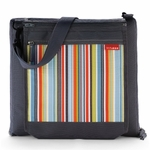 Skip Hop Central Park Outdoor Blanket & Cooler Bag Charcoal Stripe