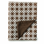 Skip Hop Chocolate Lattice Blanket