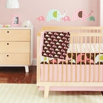 Skip Hop Pink Elephant Bedding Set