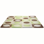 Skip Hop Playspot Foam Tiles Green/Brown