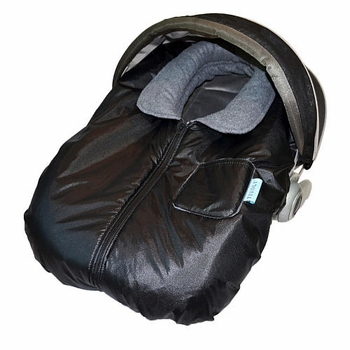 Tivoli Couture Infant Car Seat Jacket Metallic Black