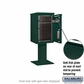Salsbury 3407S-1PGRN 1 Parcel 4C Pedestal Mailbox with Outgoing Mail Slot - Green