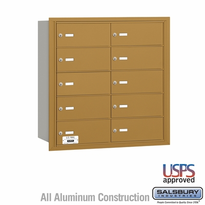 Salsbury 3610GRU 4B Mailboxes 9 Tenant Doors Rear Loading - USPS Access