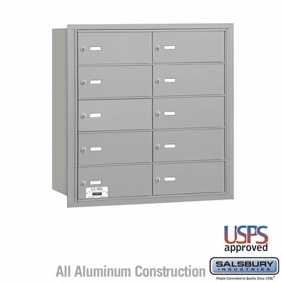 Salsbury 3610ARU 4B Mailboxes 9 Tenant Doors Rear Loading - USPS Access