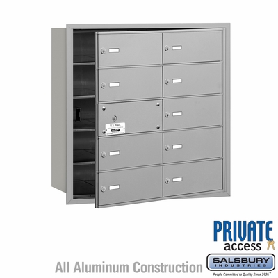 Salsbury 3610AFP 4B Mailboxes 9 Tenant Doors Front Loading - Private Access