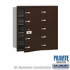 Salsbury 3610ZFP 4B Mailboxes 9 Tenant Doors Front Loading - Private Access