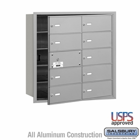4B Mailboxes - 10 Doors (9 Usable) Front Loading