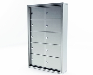 10 Door Mini-Storage Lockers - 5 x 2 with C Size Doors Surface Mount