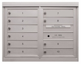 Anodized Finish 4C Mailboxes - 8 to 13 Tenant Doors