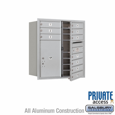 Salsbury 3709D-10AFP 4C Mailboxes 10 Tenant Doors Front Loading